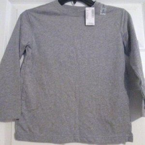 Children's Place Grey And White Basics L/S Tees S